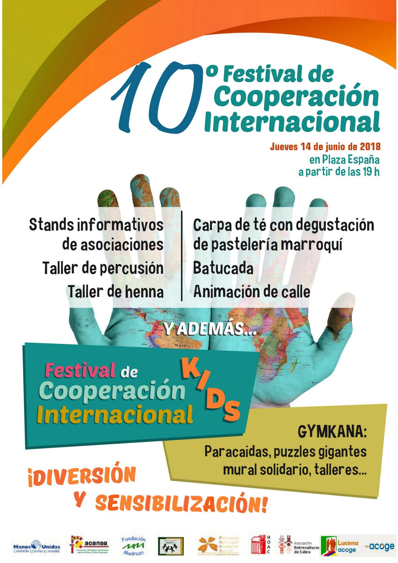 El X Festival de Cooperación Internacional se celebrará este jueves en la Plaza de España