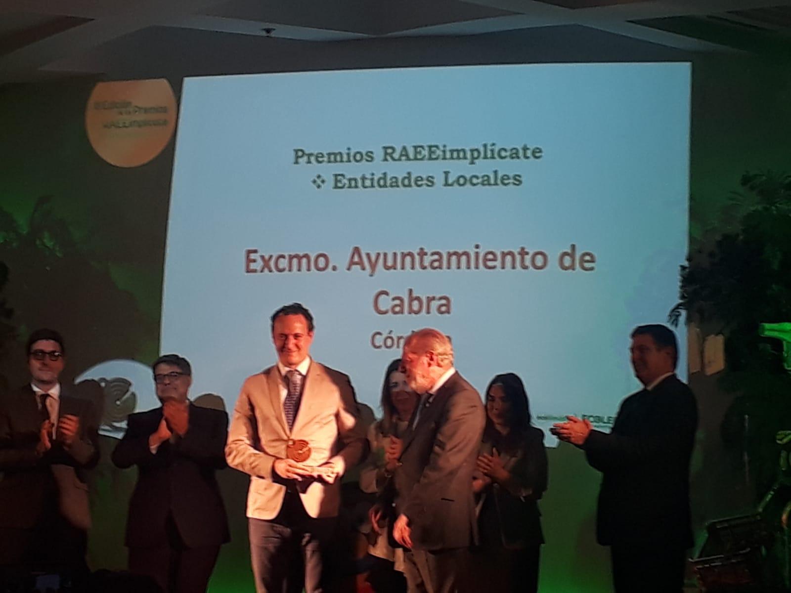 """El Ayuntamiento recibe el premio """"RAEEImplícate"""" por la buena gestión del reciclaje"""