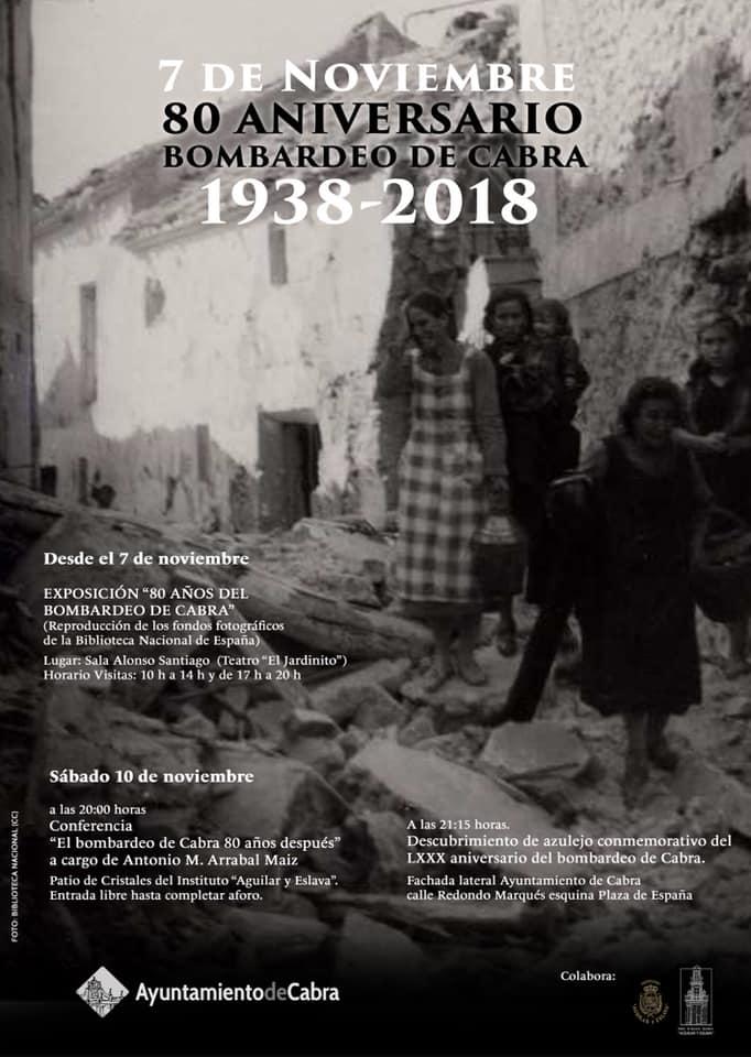El Ayuntamiento conmemora el 80 aniversario del Bombardeo de Cabra