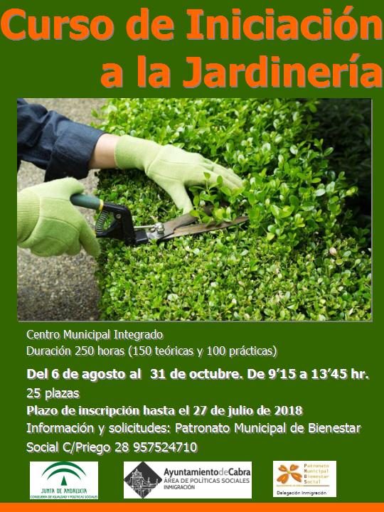 """El Ayuntamiento vuelve a lanzar el curso """"Iniciación a la Jardinería"""""""