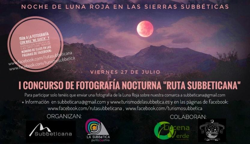 """Mancomunidad presenta el """"I Concurso de Fotografía Nocturna Ruta Subbeticana"""""""