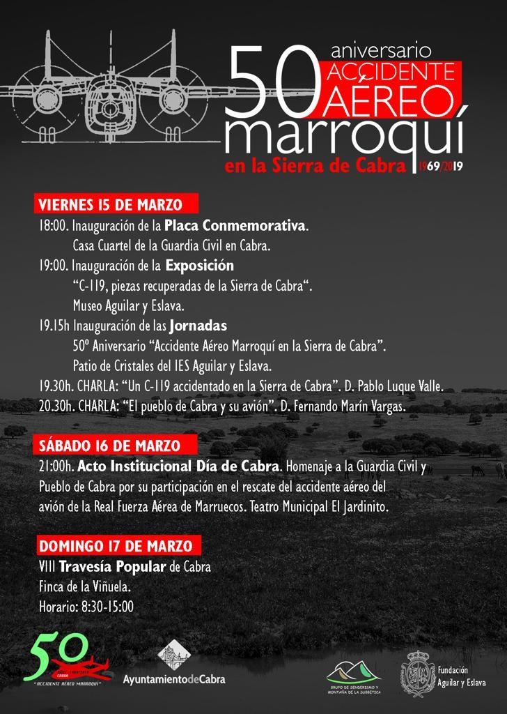 Hoy se inauguran las Jornadas del 50 Aniversario del Accidente Aéreo Marroquí en la Sierra de Cabra