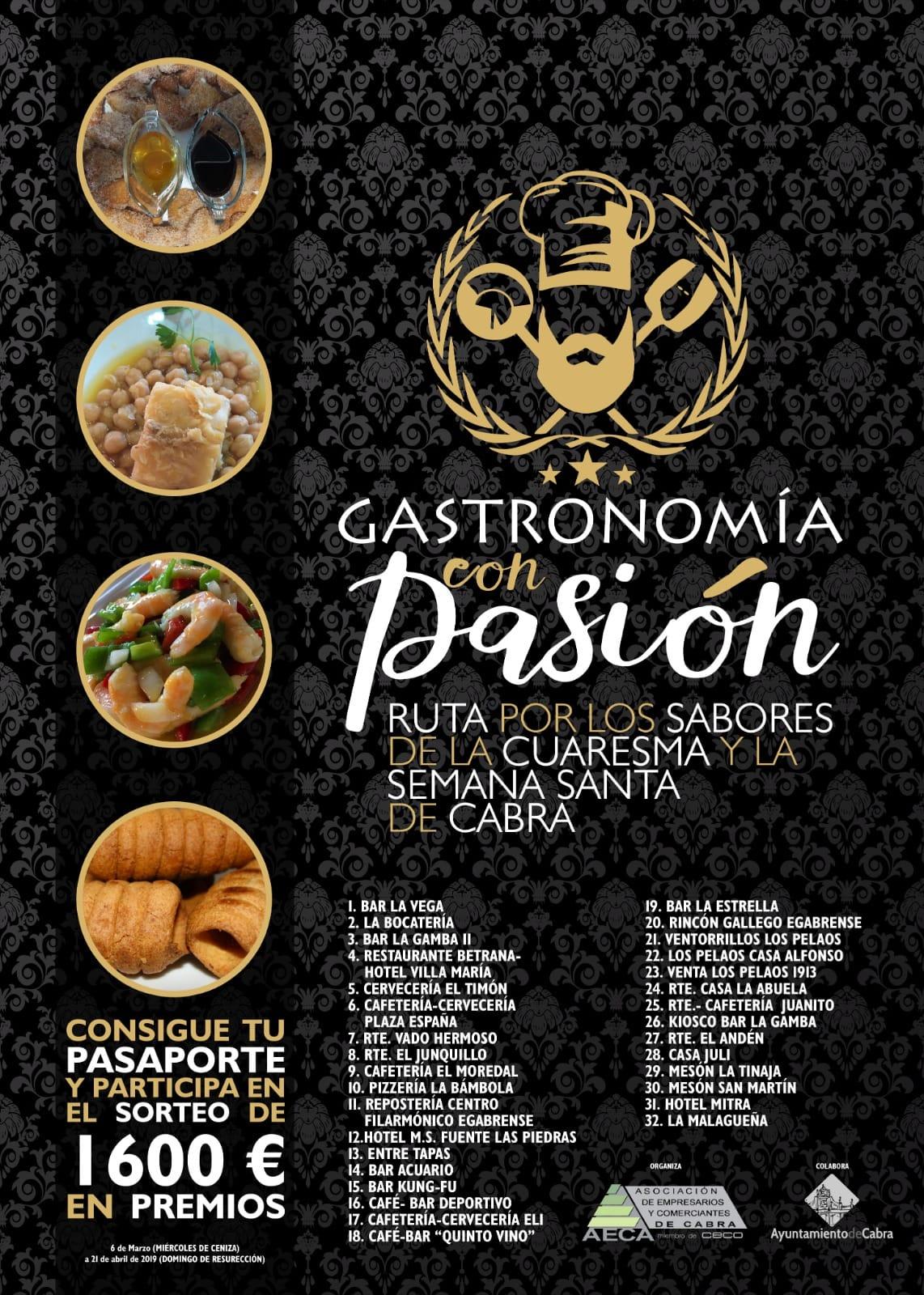 Más de una treintena de establecimientos hosteleros se suman a la ruta Gastronomía con Pasión