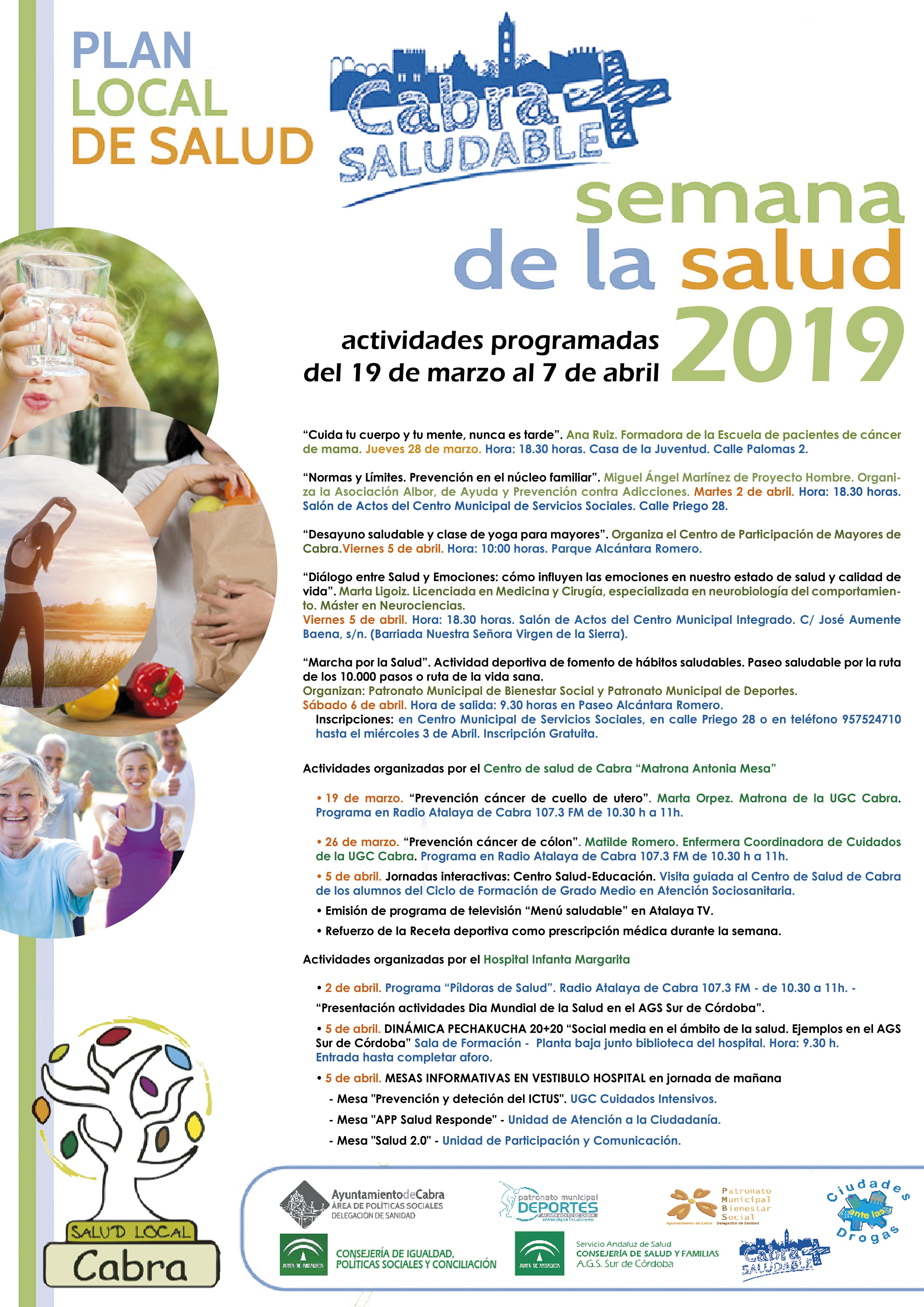 Las actividades con motivo del Día Mundial de la Salud se desarrollarán hasta el próximo 7 de abril