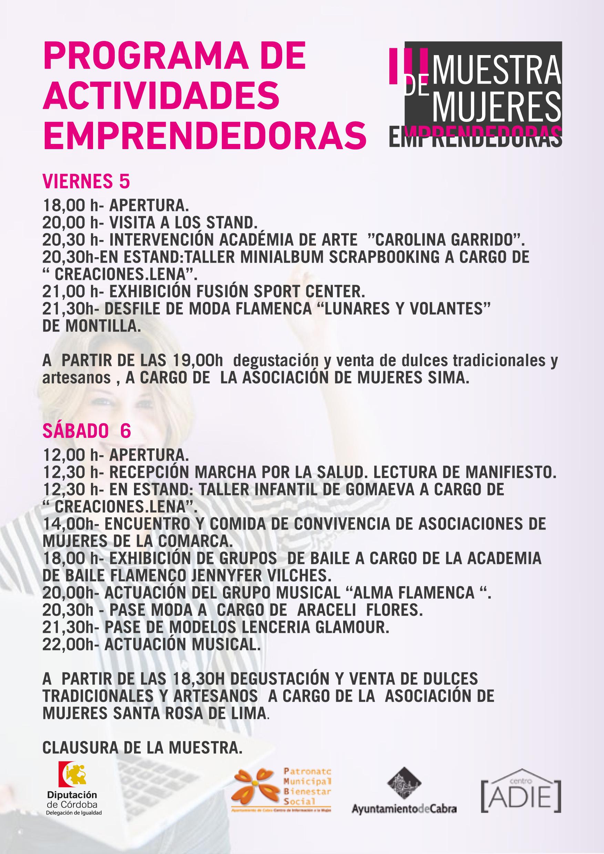 El Centro ADIE acogerá los días 5 y 6 de abril la III Muestra de Mujeres Emprendedoras