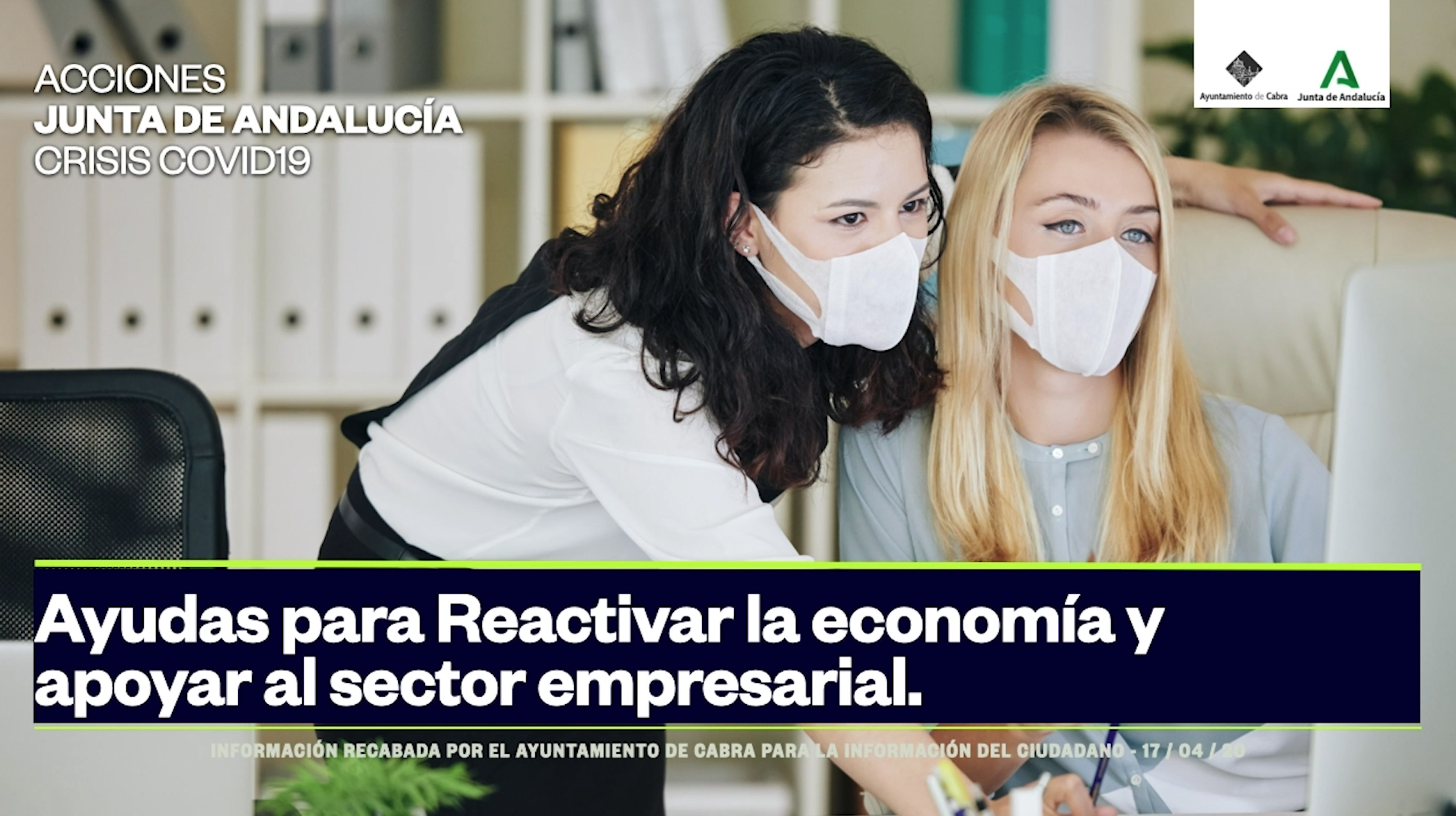 Resumen de medidas adoptadas por la Junta de Andalucía para reactivar la economía y apoyar al sector empresarial.