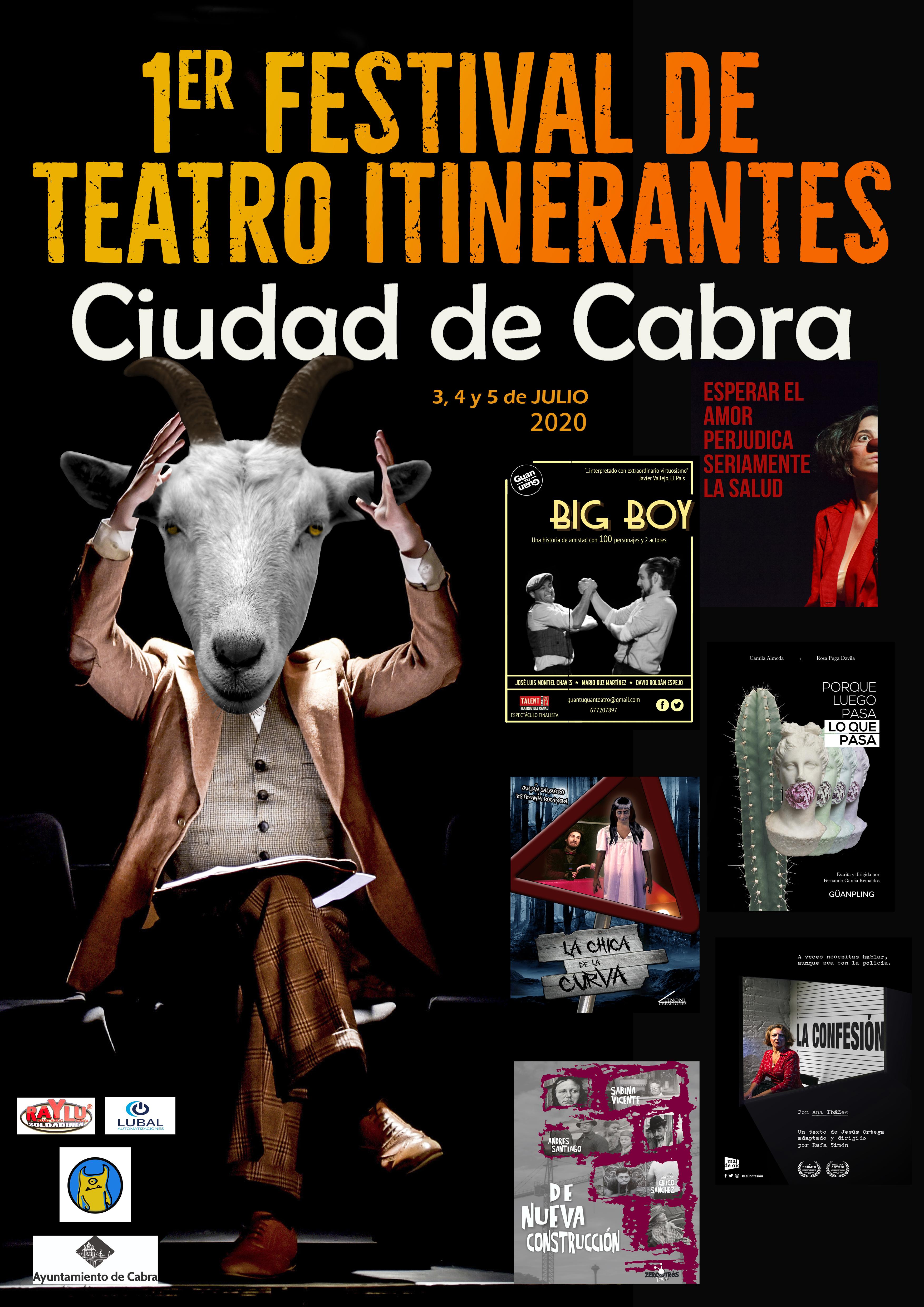 """1er Festival de Teatro Itinerantes """"CIUDAD DE CABRA"""""""