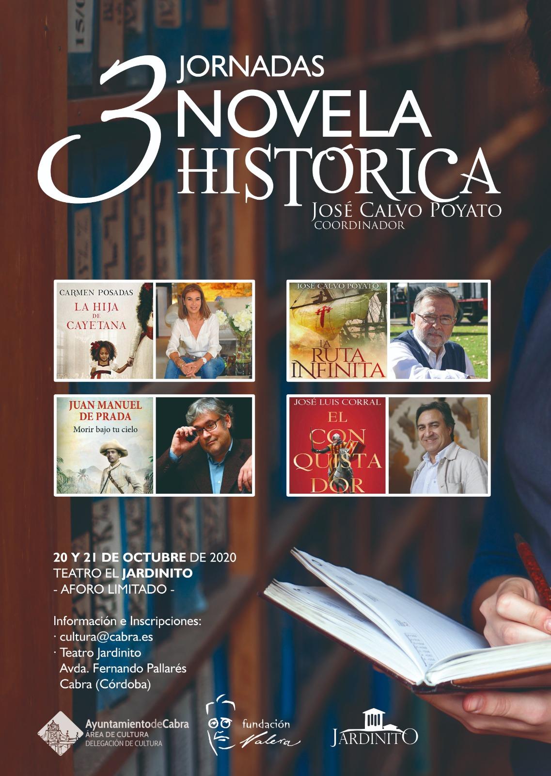 El Teatro El Jardinito acoge los días 20 y 21 de octubre las III Jornadas de Novela Histórica