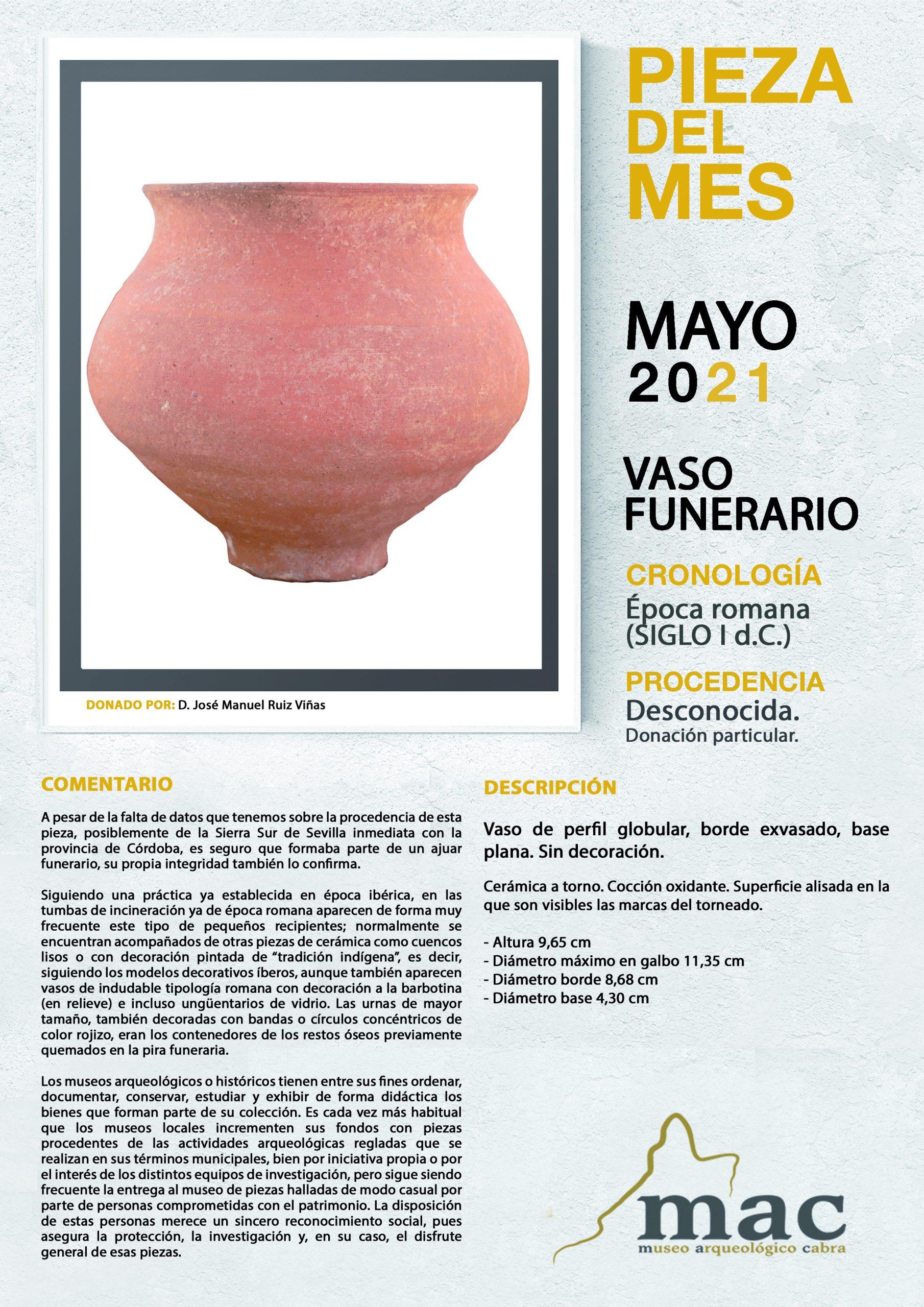 El Museo Arqueológico Municipal recupera la presentación de la Pieza del Mes