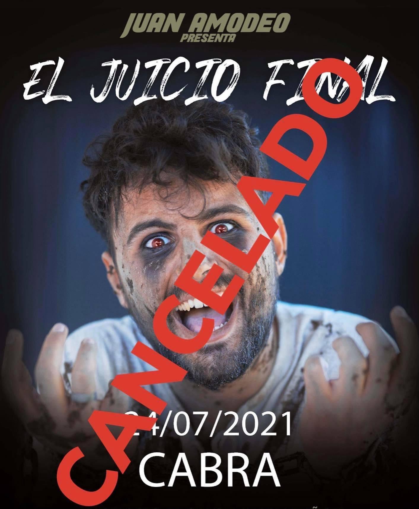 """Cancelado el espectáculo """"El Juicio Final"""", de Juan Amodeo"""