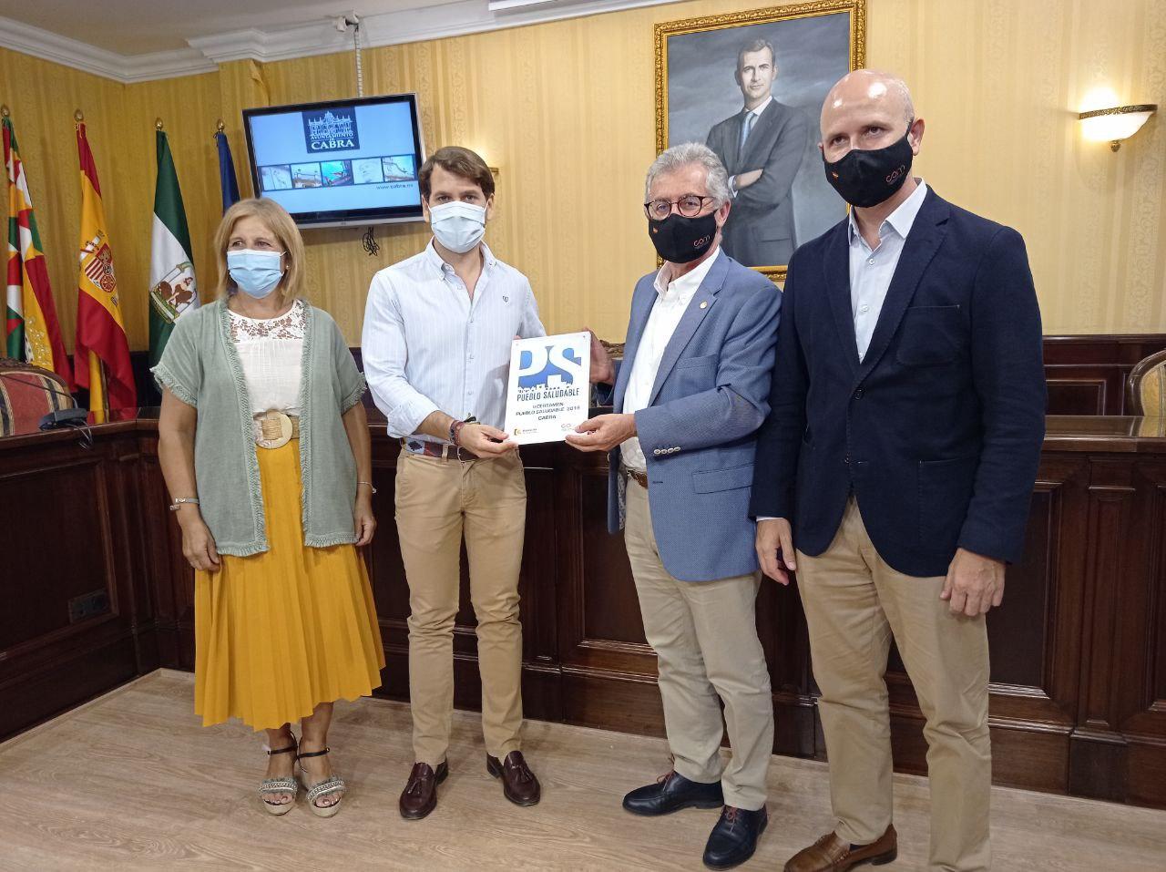 El Colegio de Médicos de Córdoba otorga a Cabra el reconocimiento Pueblo Saludable 2019